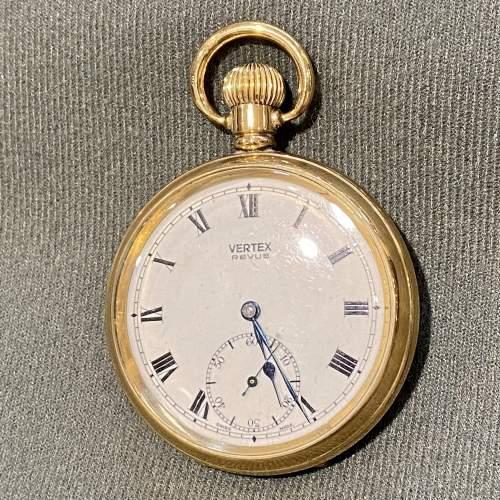 Mid 20th Century Swiss Vertex Gold Plated Pocket Watch image-2
