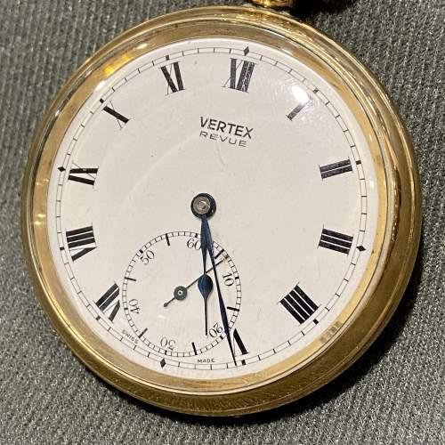 Mid 20th Century Swiss Vertex Gold Plated Pocket Watch image-3