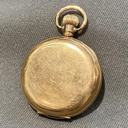 Mid 20th Century Swiss Vertex Gold Plated Pocket Watch image-4
