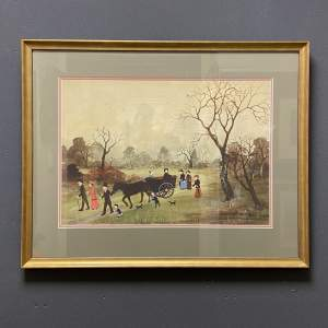Framed Print by Helen Bradley And Miss Carter Wore Pink