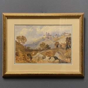Italian Landscape Watercolour by Michael Greer