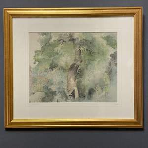 20th Century Watercolour of The Secret Garden by Franklin White