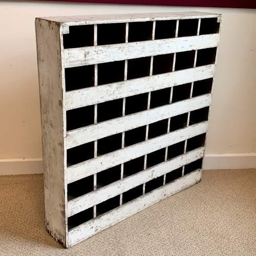 Vintage Wooden Bank of 36 Pigeon Holes image-1