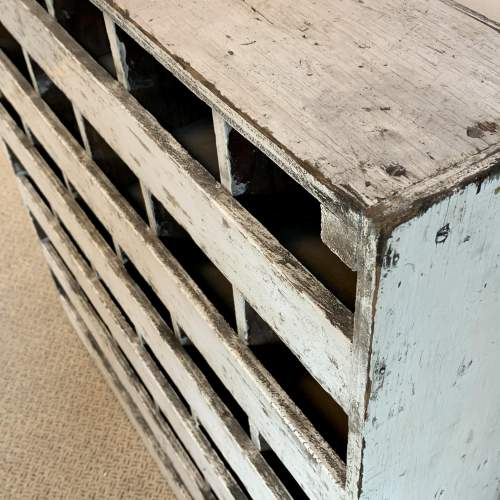 Vintage Wooden Bank of 36 Pigeon Holes image-4