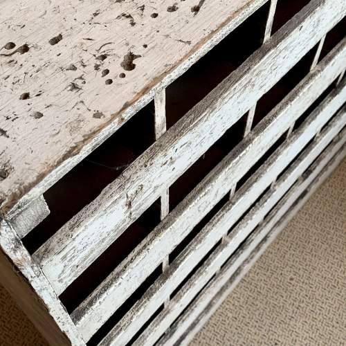 Vintage Wooden Bank of 36 Pigeon Holes image-3