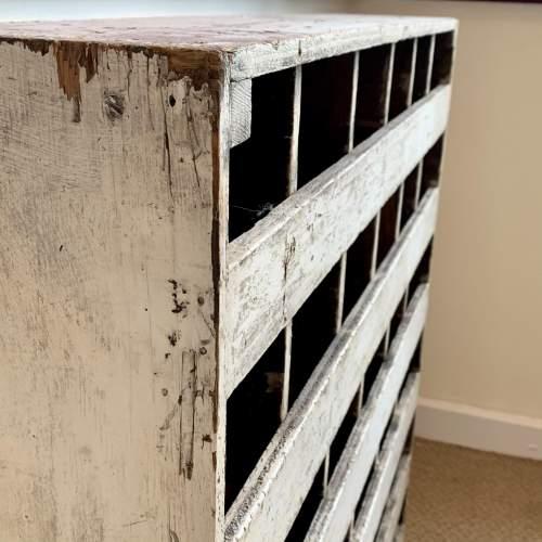 Vintage Wooden Bank of 36 Pigeon Holes image-5