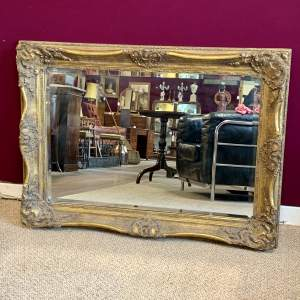 Large and Ornate Gilt Framed Wall Mirror