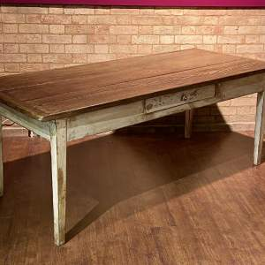 Large Vintage French Farmhouse Dining Table