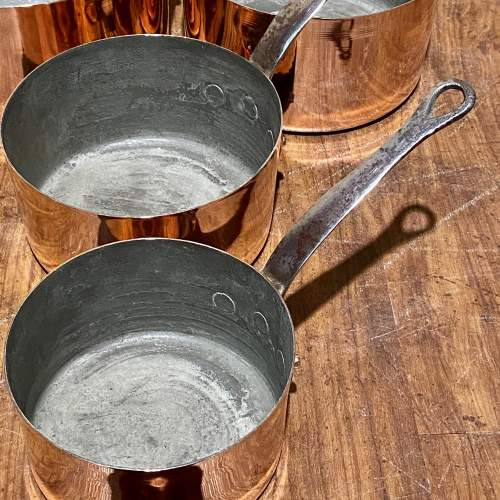 Set of Five French Copper Pans image-6
