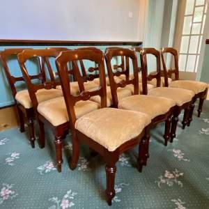 Victorian Set of Twelve Mahogany Dining Chairs