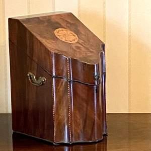 Georgian Inlaid Mahogany Knife Box