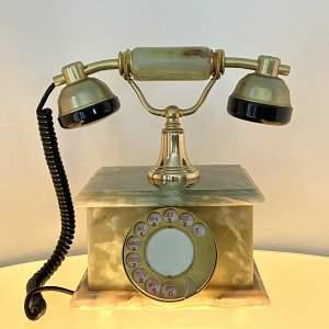 Vintage Kitsch Onyx Telephone
