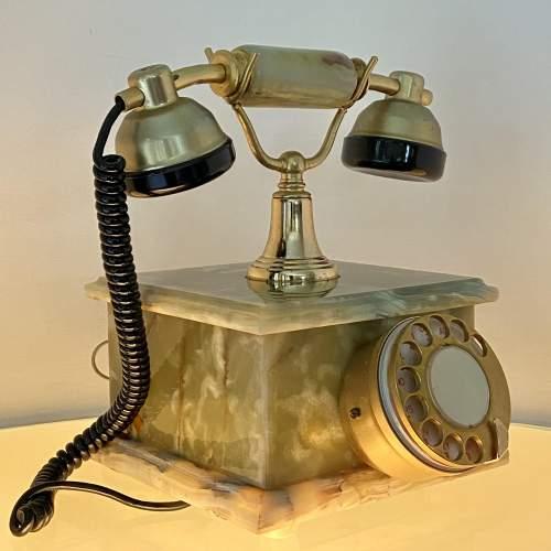 Vintage Kitsch Onyx Telephone image-3
