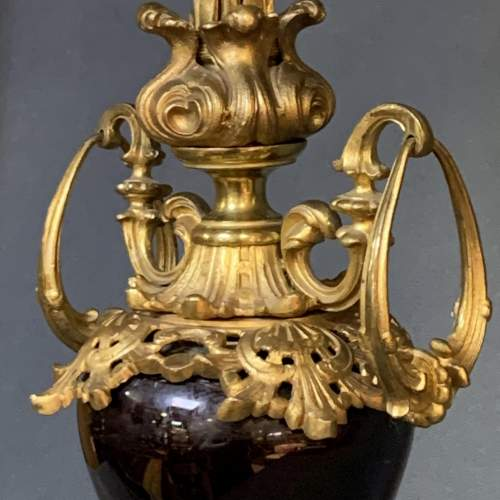 19th Century Gilt Brass Five Arm Candelabra image-5