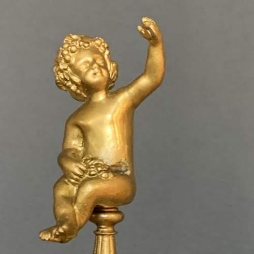 19th Century Gilt Brass Five Arm Candelabra image-4