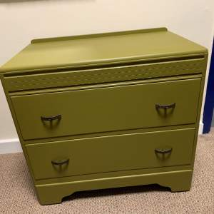 Painted 1940s Chest of Drawers