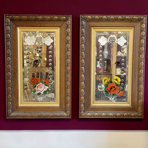 Pair of Ornate Framed Painted Mirrors image-1