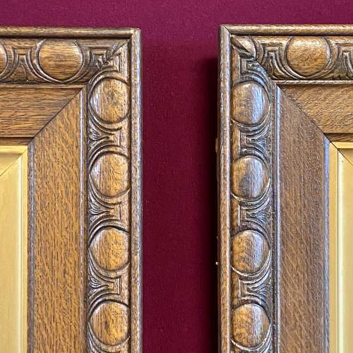 Pair of Ornate Framed Painted Mirrors image-6