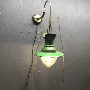 Original Rail Station Gas Wall Light Converted to Electric