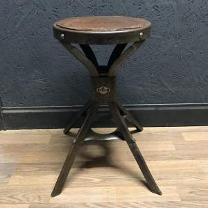 Stunning Vintage Machinists Engineers Stool by Evertaut