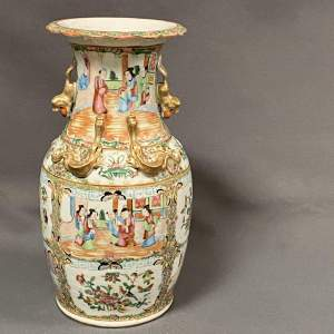 19th Century Chinese Canton Famille Rose Vase