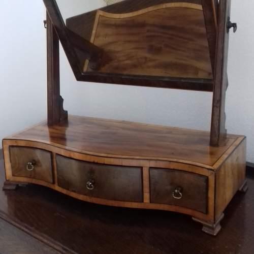 Mahogany and Boxwood Strung Dressing Table Swing Mirror image-5