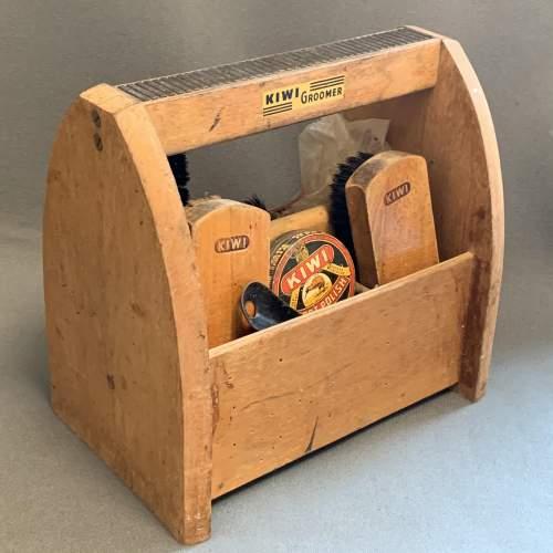 Vintage Kiwi Shoe Shine Box image-1