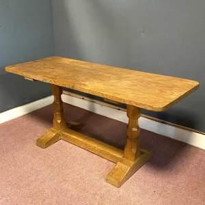 Mid 20th Century Sid Pollard Adzed Oak Coffee Table