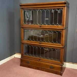 Early 20th Century Mahogany Globe Wernicke Stacking Bookcase