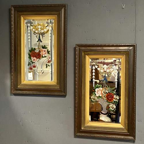 Pair of Edwardian Painted Mirrors image-1