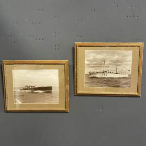 Pair of 1950s Framed Photographs of Motor Boats by Beken and Son