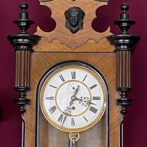 Late 19th Century Walnut and Ebony Vienna Regulator Timepiece