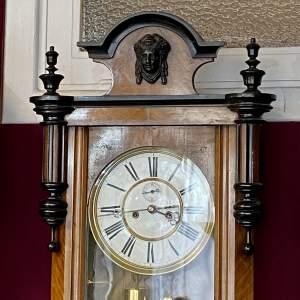 Late 19th Century Walnut and Ebony Vienna Regulator Wall Clock