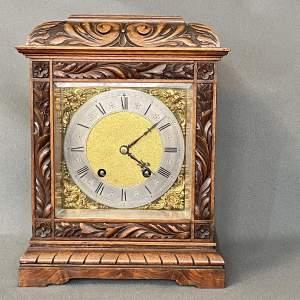 Quality Lenzkirch Carved Walnut Bracket Clock