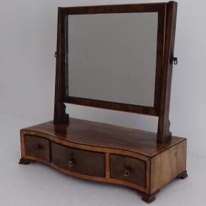 Mahogany and Boxwood Strung Dressing Table Swing Mirror