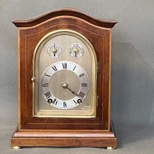 Winterhalder and Hofmeier Early 20th Century Mahogany Inlaid Clock