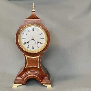 19th Century French Table Clock in Mahogany