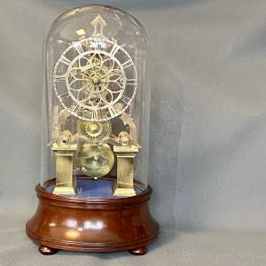 Late 19th Century Eight Day Fusee Skeleton Clock