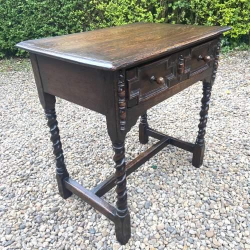 Quality Jacobean Style Oak Side Table image-2