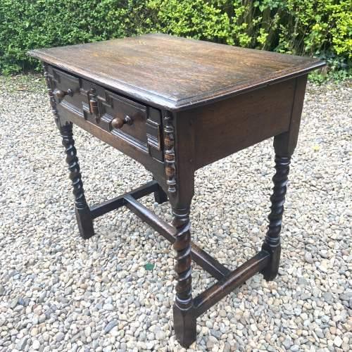 Quality Jacobean Style Oak Side Table image-3