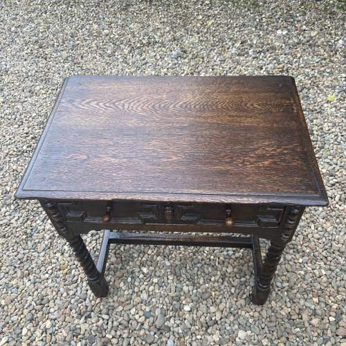 Quality Jacobean Style Oak Side Table image-4