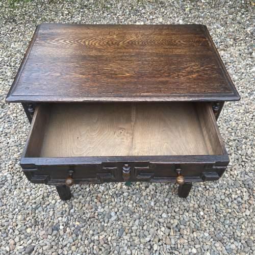 Quality Jacobean Style Oak Side Table image-6