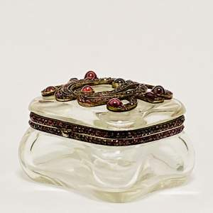 19th Century Crystal and Garnet Box