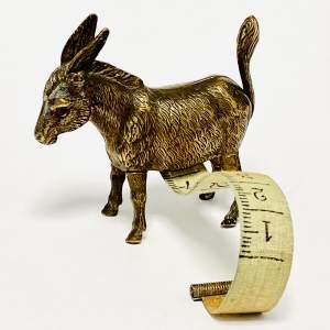Antique Novelty Donkey Tape Measure