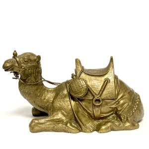 19th Century Bronze Camel Inkwell