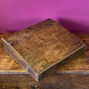Late 18th Century Oak Desk Box