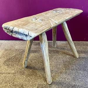 Rustic Sycamore Kitchen Stool
