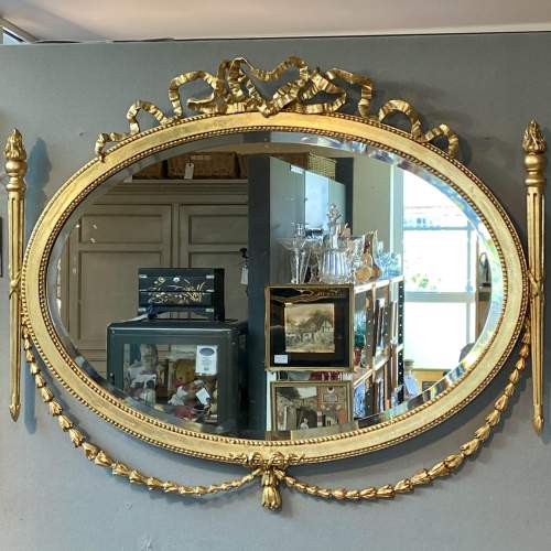 Ornate Antique Gilt Framed Mirror image-1