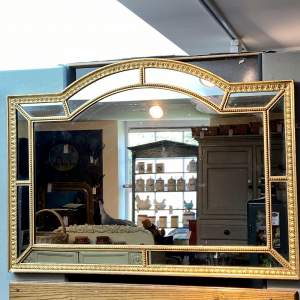 Antique Gilt Framed Mirror with Mirror Panels