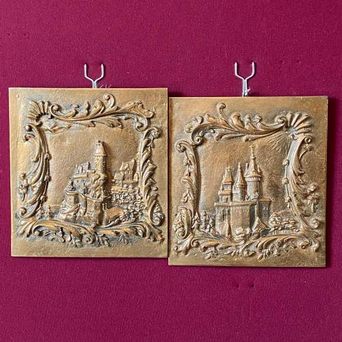 Pair of Bronze French Plaques image-1
